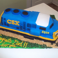 Csx Train Cake For My Conductor Husband