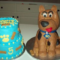 Scooby Doo This cake ws for a 5yr. who's parents were divorced and the Father called me and asked if I would do a cake for his son's b-day....