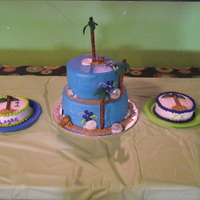 Luau Birthday  This was for a friends two Children that turned 1 and 4 years old. The party theme was Luau birthday. i made the shells from fondant. The...