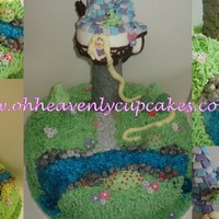 Tangled Themed Cake This was based on the mvie tangled for a little girls 7th birthday