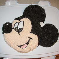 Mickey Mouse Made this cake for fun, because I love Mickey!