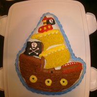 Pirate Ship Made this cake for fun, and sent it to work with my boyfriend. It took me all day, and I was ready to give up about 5 times, but I think it...