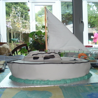 Samara - A British Sailboat   A cake of my friends boat for her 29th birthday. A sponge cake with white chocolate buttercream centre covered in fondant.