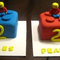 Lego Cakes Lego cakes for twin boys.
