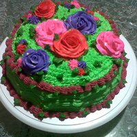 Colorfull Flowers Cake