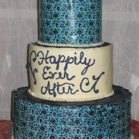 Chocolate Transfer Wedding Cake