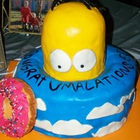 Homer Wants A Doh!-Nut Graduation cake for a good friend and Simpsons lover