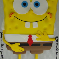Sponge Bob Cake Chocolate and vanilla cake with caramel and pineapple filling... this cake was huge and heavy... not a very hard cake to make... just a lot...