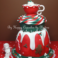 Have Yourself A Merry Little Christmas.. This cake I made in a workshop given by the Dutch cake decorator/designer Wendy Schlagwein.