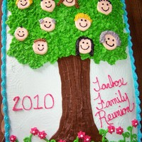 Family Reunion Cake i googled family reunion cakes and saw one like this and wanted to make it for my family reunion