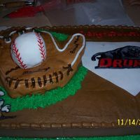 Baseball Signing Party This cake was made for a Highschool Baseball signing party it is buttercream icing with fondant accents and color flow decals.