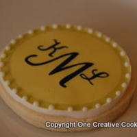Testing Out Edible Image On Glace   Test cookie using NFSC, glace & edible image