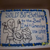 Autioneer Birthday Cake This was done for an Auctioneer for his birthday. I looked up clip art and took it from ther.