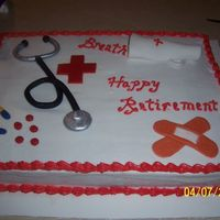 Nurse Retirement Buttercream Icing and Fondant accents