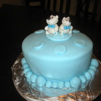 Baby Boy Shower Cake one of my first cakes i made for my friends baby shower