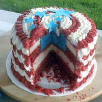Patriotic Cake Made this cake for a fourth of July BBQ. It was a lot of fun to do!
