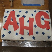 "Ahg Kick-Off Cake2 This was the other cake we made for our AHG Kick-Off Night. It was huge (in comparison to usual 8""-round cakes)! Two 9x12x2 side by..."