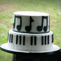 Piano Almond Pound CakeFor a farewell party for our church pianist