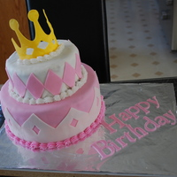 Princess Birthday Cake Made for a 5 year old princess!
