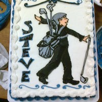 Ballroom Dancing And Golf They wanted both ballroom dancing and golf to be represented on this cake. Drawing in buttercream~