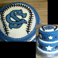 Baseball Team Logo Cake This was my son's 11th birthday cake, designed around his team logo. Buttercream with fondant accents