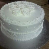 White On White Anniversary Cake