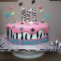 Colorful Zebra Stripes buttercream and MMF on this one :)