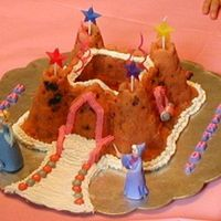 Castle Cake Made of strawberry pound cake in a castle pan