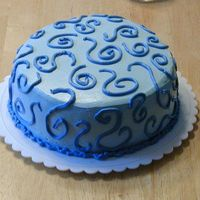 Blue Squiggle Cake My first IMBC cake ever