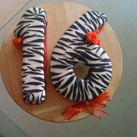 Zebra Print 16Th Birthday Cake
