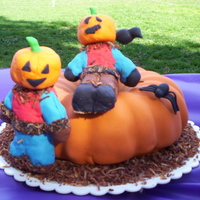 Scarecrows & Pumpkin