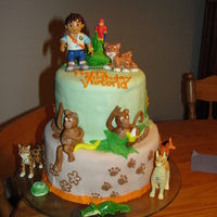 Deigo And The Bobos Birthday Cake this was lots of fun! my 3yr old daughter loves deigo and the bobo brothers. so this is what all the inspiration from cake central and...