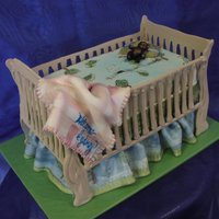 Crib Cake A crib cake that looks great and is awesome for any baby shower.