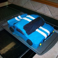 First Car Cake! ALL BUTTERCREAM.