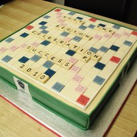 Scrabble Board Cake First ever corporate cake. Hope they like it!