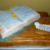 Ordination/ Graduation From Seminary   fondant over ganache...Bible is an edible image
