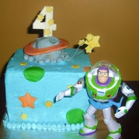 Buzz Lightyear   whipped buttercream with fondant accents