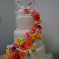 Wedding Cake Roses-Swan Heart My First Weding Cake WEDDING CAKE MULTICOLOUR ROSES- MY FIRST WEDING CAKE