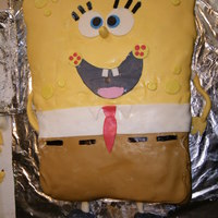 "Spongebob Disaster!! I made this cake for my son who was turning 9. I wasn't going to be able to be at his ""real"" party that my ex was throwing..."