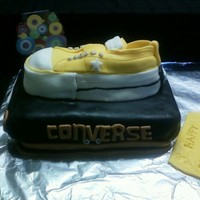 Women's Converse One Star Laceless Oxford Sneakers - Yellow Cake I made this converse shoe for a girl who loves and her favorite color is yellow