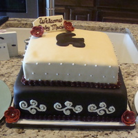 Sophisticated Baby Shower Did this for a cousin that didn't want the typical baby shower. This was a favorite of mine. Buttercream cake. White Velvet with...