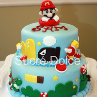 Super Mario Cake I saw a photo of this cake online (theirs was better!), and fell in love with it! So when a customer asked for a Super Mario themed cake I...