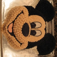 Mickey Mouse Birthday Cake   Mickey Mouse cake for my son's second birthday. Used a Wilton pan.