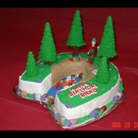 Gone Fishing Cake idea obtained from 1999 Wilton Yearbook and has a few modifications.