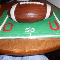 University Of Oklahoma Football Cake   I made this for a party that I went to. It was a big hit.