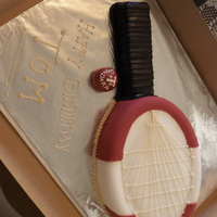 Racquet Ball Themed Cake My Very first time using fondant! Very proud of my masterpiece :))