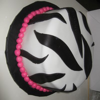 Zebra With Hot Pink Accents