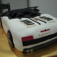 Lamborghini Gallardo Cake for my son's 17th birthday. He is crazy about cars. Caramel Vanilla Butter Cake.