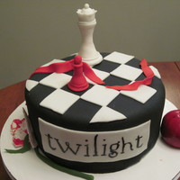 Twilight Cake Twilight cake with the theme of twilight, eclipse, new moon and breaking dawn.