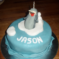 Narwhal Cake For my son's 10th birthday - its based on the Narwhal Song (on youtube) which is a favourite amongst his friends. Its a madeira cake...